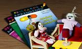 Materiais educativos: revistas e bonecos